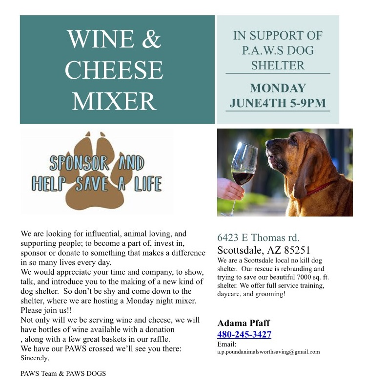 flyer for wine and cheese fundraiser