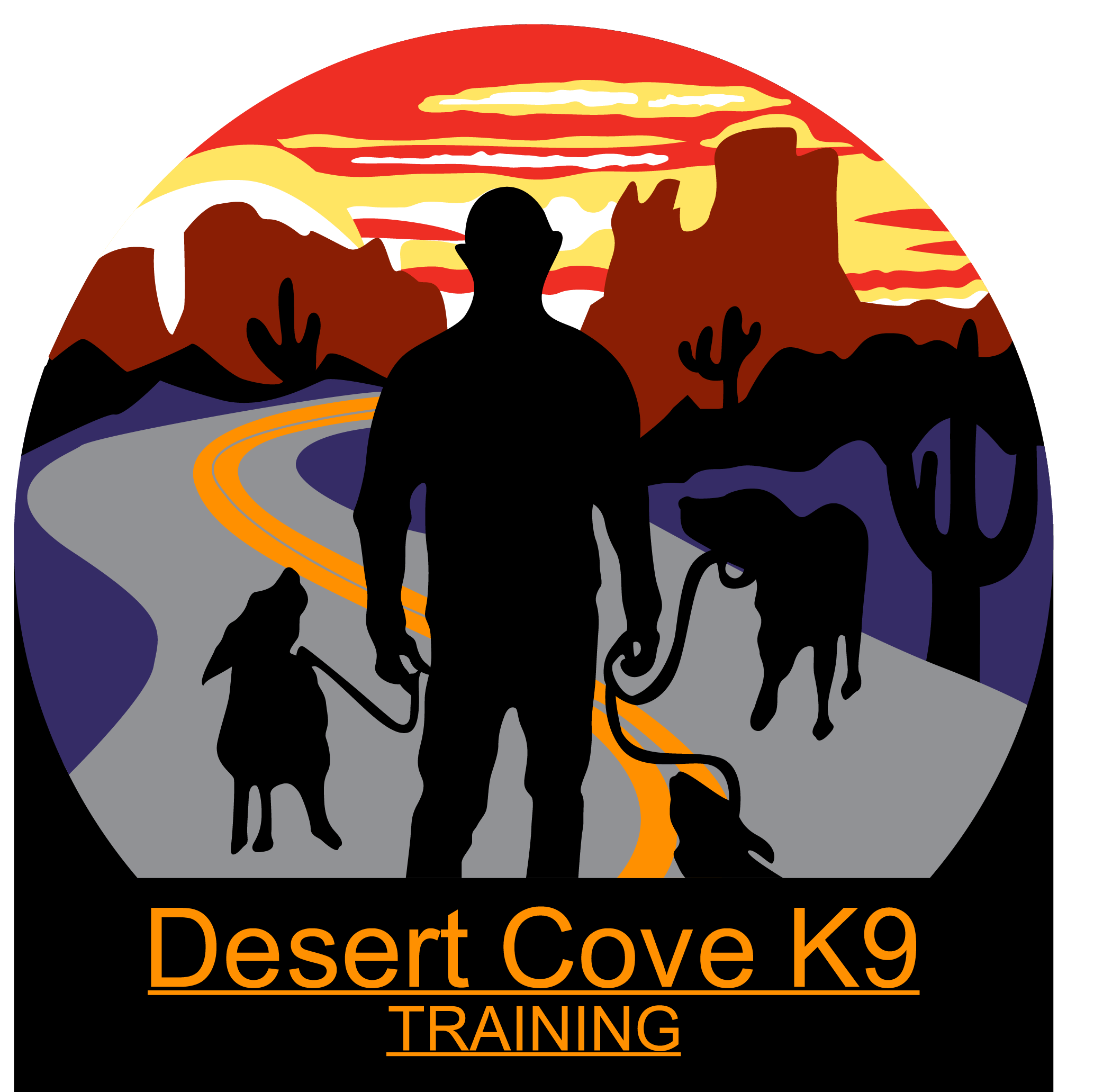logo for Desert Cove K-9 Dog Training